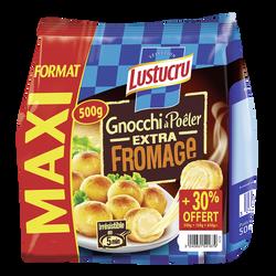 Gnocchi à poêler extra fromage LUSTUCRU, 500g + 30% offert
