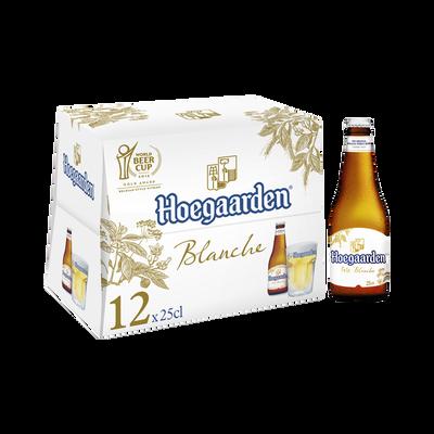 Bière blanche HOEGAARDEN, 4.9°, 12x25cl