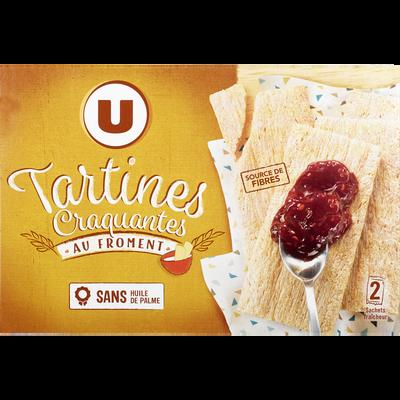 Tartines grillées craquantes au froment U, boîte de  250g