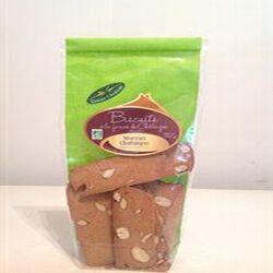 Biscuits à la farine de châtaigne aux amandes BIO 180Gr