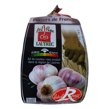 Ail rose 2 têtes de Lautrec, LABEL ROUGE, calibre 70/90, France, filet200g