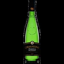Vin blanc Coteaux-du-Languedoc Picpoul de Pinet  ORMARINE, bouteille de 75cl