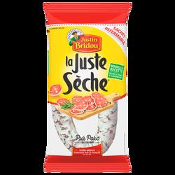 Saucisse sèche pur porc La Juste Sèche JUSTIN BRIDOU, 275g