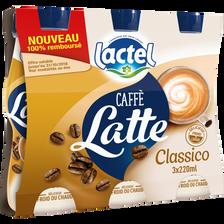 Lactel Boisson Lactée Uht Sucrée Arômatisée Au Café Classico , 3 Bouteilles De 220ml