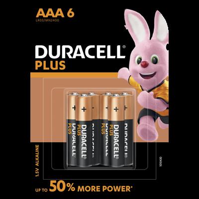 Piles LR03 Duralock Plus Power DURACELL, 6 unités