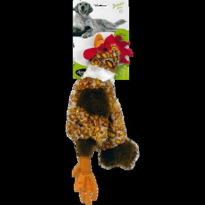 Jouet mini poule plate, 32cm, AIME