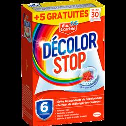 Lingettes DECOLOR STOP EAU ECARLATE, boite de 25 + 5 gratuites