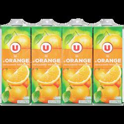 Jus à base de concentré d'orange U, 8x1l
