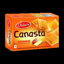 Biscuits apéritif Canasta au fromage saveur jambon fumé DELACRE, 75g