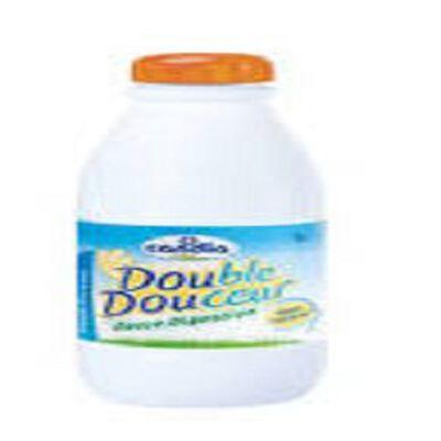 Lait demi-écréme stérilisé UHT Double Douceur CANDIA, bouteille de 1l