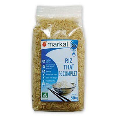 Riz thaï demi complet BIO, MARKAL, le paquet de 500g