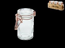 Mini bocaux, en verre, avec couvercle hermétique cuivré, 100ml, 3 unités
