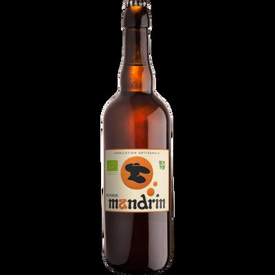 Bière blonde bio MANDRIN 4.8°, bouteille 75cl