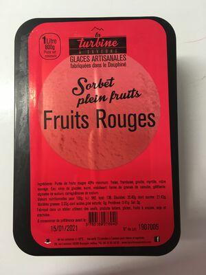 SORBET ARTISANAL FRUITS ROUGES