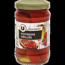 Poivrons rouges grillés U SAVEURS, bocal de 190g