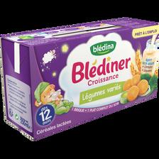 BLEDINER Croissance aux légumes variés, dès 12 mois, 2x250ml