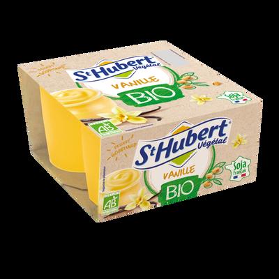Yaourt au soja bio vanille ST HUBERT, 4x100g
