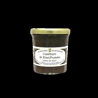 Confiture kiwi pomme au miel RUCHERS DE BOURGOGNE, 375g