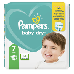 Couches baby dry langes géant taille 7 PAMPERS x31