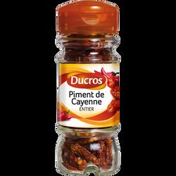 Piments de Cayenne entiers, DUCROS, flacon duc de 11g