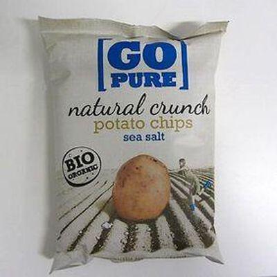 Chips de pomme de terre salées GO PURE,125g