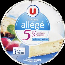 Fromage léger au lait pasteurisé U, 5%MG, 250g