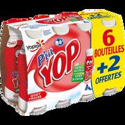 Yoplait Yaourt À Boire Sucré À La Fraise P'tit Yop 6x180g + 2 Offerts