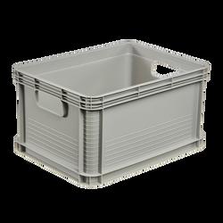 Bac de rangement 20l 40x30x22cm gris