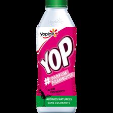Yaourt à boire sucré aromatisé framboise YOP, 850g