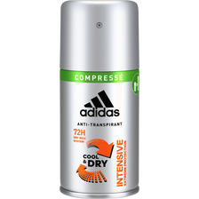 Déodorant men intensive cool and dry anti-transpirant 72h ADIDAS, atomiseur de 100ml