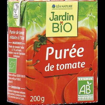 Puree de tomate JARDIN BIO, brique de 200g
