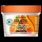 Garnier Masque Nourrissant À La Papaye Pour Cheveux Abimés Hair Foods Fructis,pot De 390ml