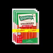 Stoeffler Saucisses De Strasbourg Stoeffler 3x6x40g,lot De 2+1 Offert,soit 720g