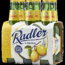 Bière blde au jus de citron SAGRES RADLER, sans alcool, 6x33cl