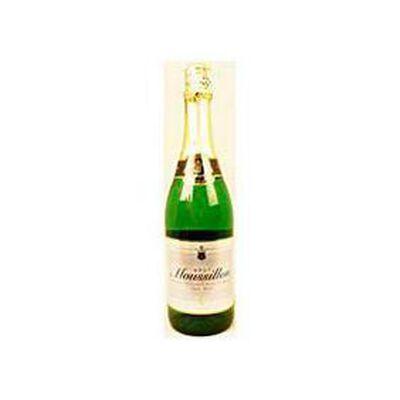 Jus de raisin blanc pétillant sans alcool MOUSSILLON Brut, bouteille de 75cl