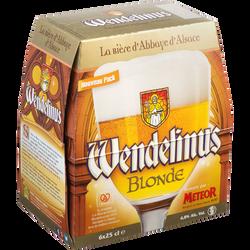 Bière blonde d'abbaye  WENDELINUS, 6,8°, 6 bouteilles de 25cl