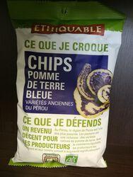 Chips pomme de terre bleue 100g