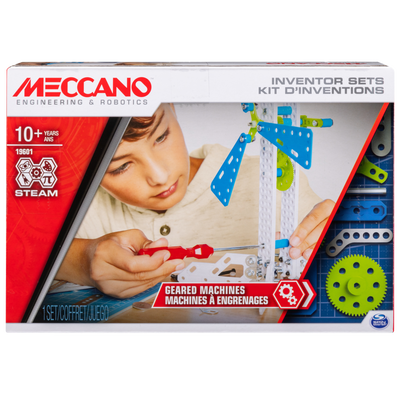 KIT D'INVENTIONS ENGRENAGES MECCANO X3