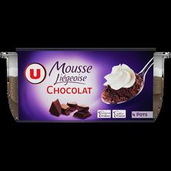 Mousse liégeoise au chocolat U, 4x80g