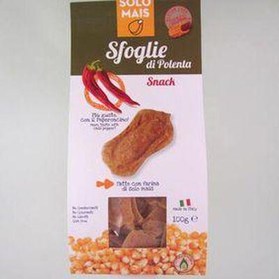Sfoglie de polenta au piment  sans gluten  SOLO MAIS,100g