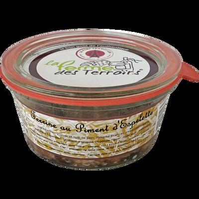 Terrine de porc piment d'Espelette LA FERME DU TERROIR, 180g