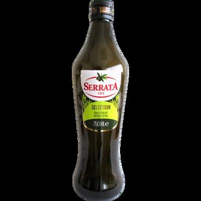 Huile d'olive séléction extra vierge SERRATA, bouteille de 75cl