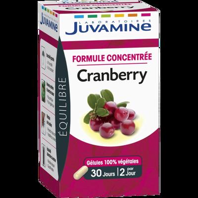Gélules 100% végétales formule concentrée cranberry JUVAMINE, x60