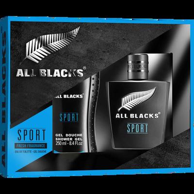 Coffret pour homme ALL BLACKS sport edt 80ml+gel dche 250ml