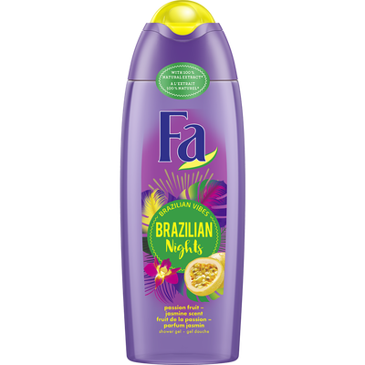 Gel douche brazilian nights aux fruits de la passion et fleur de jasmin FA, flacon de 250ml