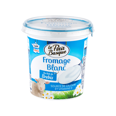 Fromage blanc au lait de brebis, LE PETIT BASQUE, 4,5% de MG, 400 g