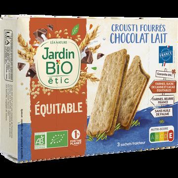 Jardin Bio Crousti Fourré Chocolat Au Lait Bio Jardin Biologique 170g