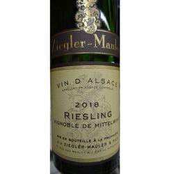 Vin blanc d'Alsace AOC Riesling, Vignoble de Mittetwihr, ZIELER MAULER, 37,5cl
