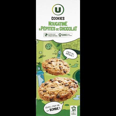 Cookies à la nougatine et pépites de chocolat U, étui de 200g