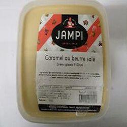 Crème glacée de caramel au beurre salé JAMPI, bac de 1100ml